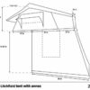 dimensions of litchfield rooftop tent with annex
