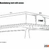 dimensions of bundaberg roof top tent with annex