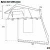 dimensions of byron roof top tent