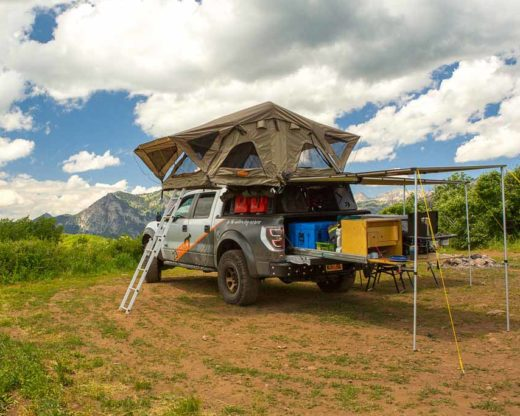 roof top tent with awning