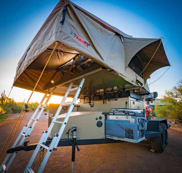 rooftop tent on trailer