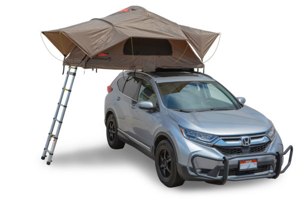 weekender rooftop tent with ladder